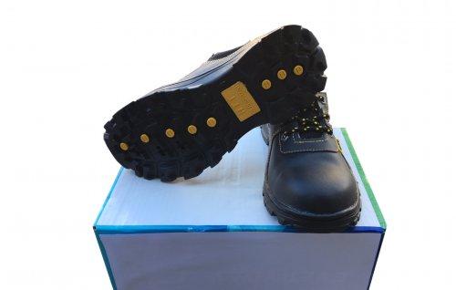Giày bảo hộ lao động 100% da, đế cao su