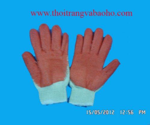 Găng tay len nhúng nhựa cao su 03